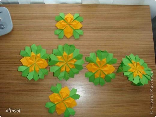 Сделала образцы для кружка.   Кусудамы (кроме одной) выполнены на основе классической кусудамы.  фото 13