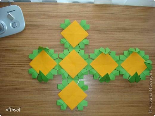 Сделала образцы для кружка.   Кусудамы (кроме одной) выполнены на основе классической кусудамы.  фото 14