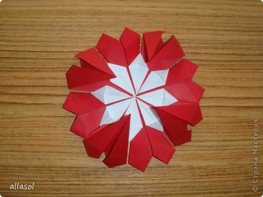 Сделала образцы для кружка.   Кусудамы (кроме одной) выполнены на основе классической кусудамы.  фото 21