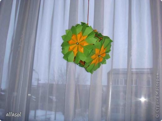 Сделала образцы для кружка.   Кусудамы (кроме одной) выполнены на основе классической кусудамы.  фото 15