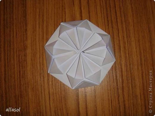 Сделала образцы для кружка.   Кусудамы (кроме одной) выполнены на основе классической кусудамы.  фото 20