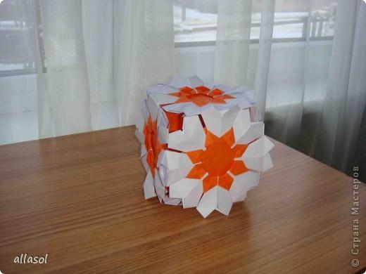 Сделала образцы для кружка.   Кусудамы (кроме одной) выполнены на основе классической кусудамы.  фото 16