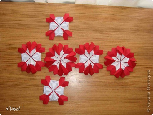 Сделала образцы для кружка.   Кусудамы (кроме одной) выполнены на основе классической кусудамы.  фото 23