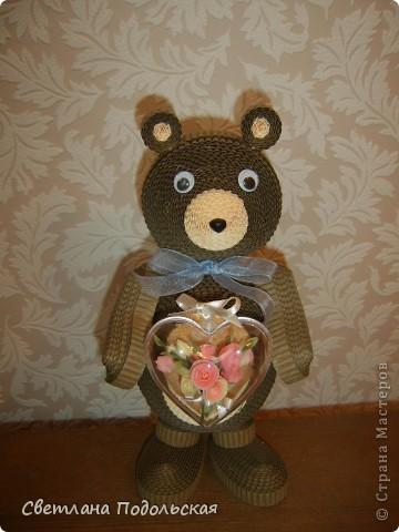 Медвежонк с сердцем. Всем влюбленным и любящим посвящается.  фото 1