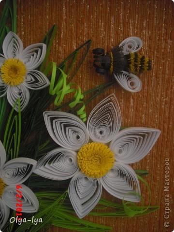 """Моя первая работа в технике """"квиллинг"""", практически копия. Мой вдохновитель - MaryBond!!!  ССылаюсь на эксклюзив - http://stranamasterov.ru/node/43135. Фото оригинала сделать действительно очень трудно... фото 4"""