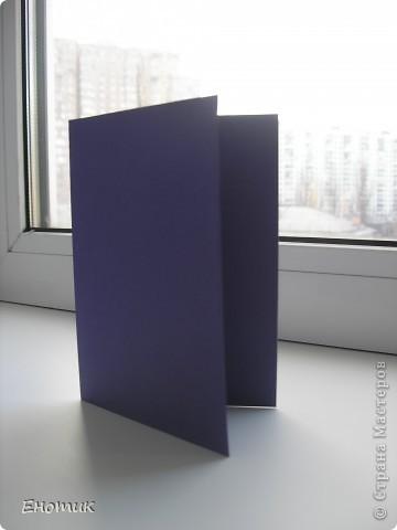Доброе время суток! Люблю простые в изготовлении открытки. Недавно мне представилась возможность сделать именно такую простенькую открыточку. фото 2