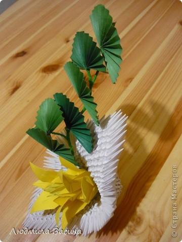 Одна из первых работ в технике модульного оригами, делали с дочерью по фото в книге.  фото 3