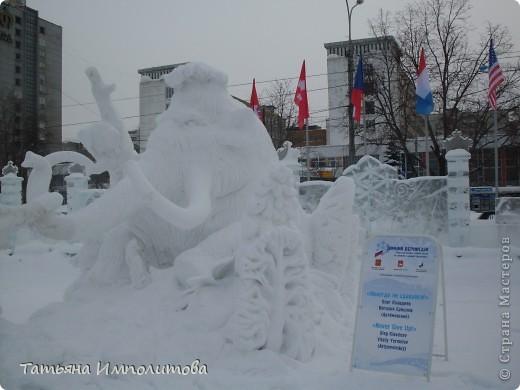 В Перми проходил открытый кубок России по снежной и ледовой скульптуре.Пермяки получили первое место по снежным скульптурам фото 6