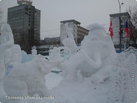 В Перми проходил открытый кубок России по снежной и ледовой скульптуре.Пермяки получили первое место по снежным скульптурам фото 7