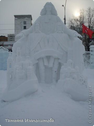 В Перми проходил открытый кубок России по снежной и ледовой скульптуре.Пермяки получили первое место по снежным скульптурам фото 8