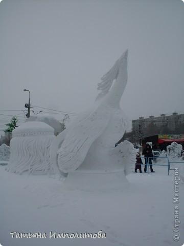 В Перми проходил открытый кубок России по снежной и ледовой скульптуре.Пермяки получили первое место по снежным скульптурам фото 5