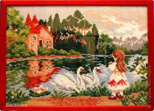 Девочка и лебеди
