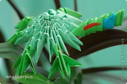 Моя дочь Катя (ей скоро 9 лет) увлеклась модульным оригами и вот ее дебют собственной идеи - черепашка (дочь не нашла ничего подобного на сайте и ей очень хотелось увидеть здесь свою поделку) фото 3