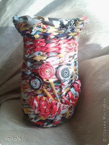 Осваиваю глянец))) в вазочку можно лить воду,в нутри баночка ;) фото 2