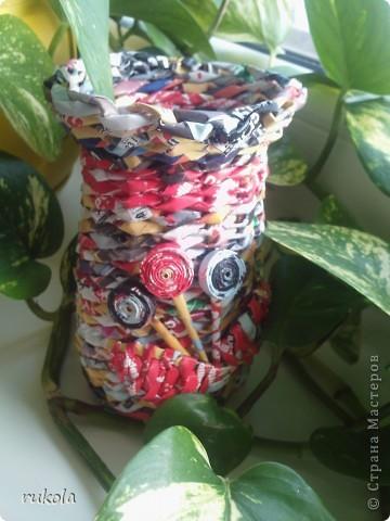 Осваиваю глянец))) в вазочку можно лить воду,в нутри баночка ;) фото 1