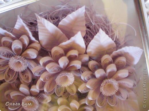 Сиреневые цветочки. Размер 15х15см.  фото 4