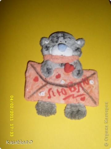 Мишка Тедди из соленого теста фото 1