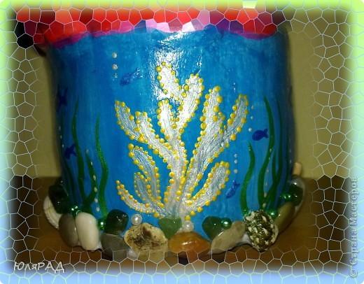 Решила сделать копилочку из солёного теста.......... идею подглядела у Ирины Мартиашвили . Оформила в виде ракушки и морского дна................... осталось только накопить на море)))))) фото 5