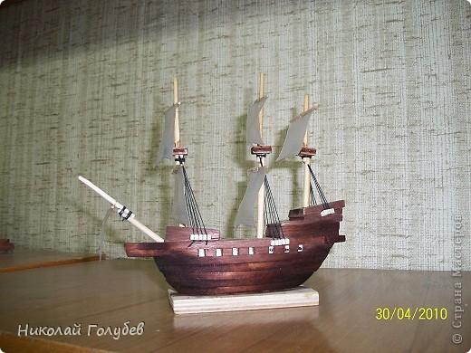 Кораблик в бутылке.Попробовали и такую технику... фото 4