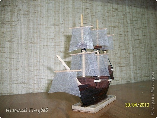 Кораблик в бутылке.Попробовали и такую технику... фото 5