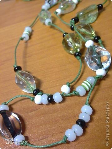 зелёные бусики фото 3
