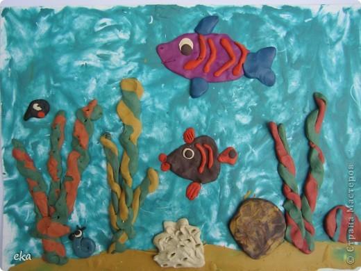 Пластилиновый аквариум.
