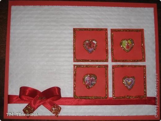 Мои первые   открытки  в  игре  по скетчу.  Материалы:Цветной  картон , цветная  бумага ,тесьма, бусины  в  виде  цветка , гель  с  блёстками , наклейки ,клей. фото 2
