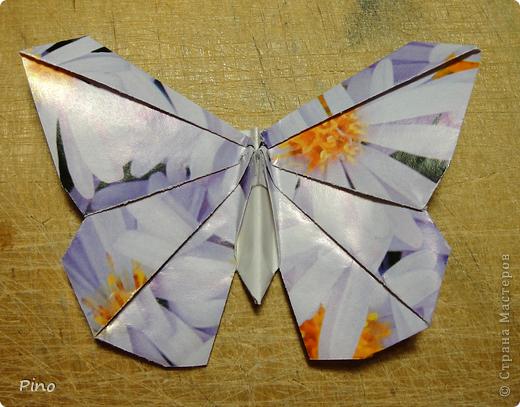 Эта бабочка из книги - Origami Butterflies - Michael G. LaFosse фото 27