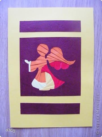 Решыла сделать на Рождество открытку, только не знала что именно изобразить. Остановилась на ангеле. фото 2