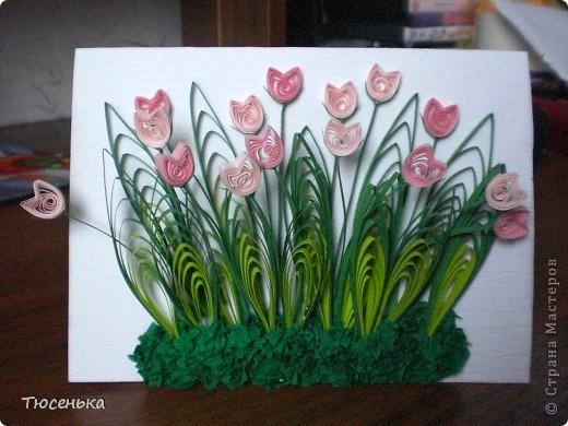 Моя вторая работа)) Сделала по мастер-классу Pastila(http://stranamasterov.ru/node/69222). Использовала проф. полоски 3мм. Это фото без вспышки. фото 1