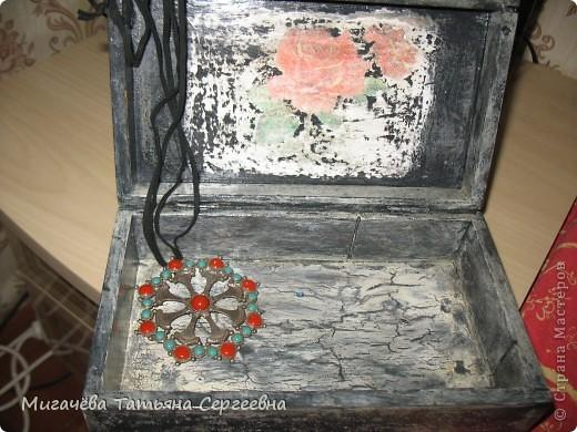 Кракелюрчик на шкатулке. фото 5