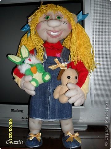 """Кукла-повторюшка. По МК Pawy. Спасибо ей за это огромное!!! Шилась на """"одном дыхании""""! Ростом получилась 49 см. фото 1"""