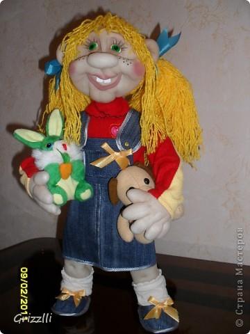 """Кукла-повторюшка. По МК Pawy. Спасибо ей за это огромное!!! Шилась на """"одном дыхании""""! Ростом получилась 49 см. фото 3"""