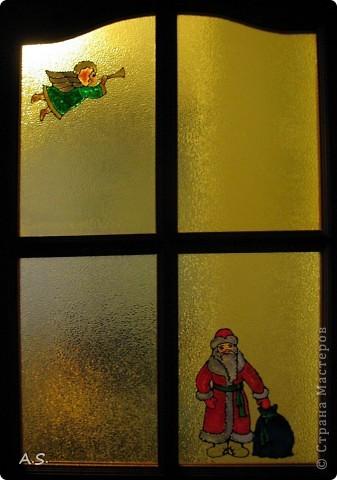 Снеговик на окне фото 5