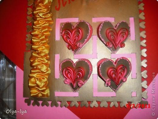 Я тоже решила поучавствовать в Игре по скетчу, посвященной Дню Святого Валентина (ссылка на игру: http://stranamasterov.ru/node/134561).  Не было ещё такого Дня Святого Валентина, чтоб я любимому, любимому мужу не подарила свою Валентинку! На этот раз она ещё и в конкурсе поучавствует, и станет хоть немножно знаменитой :))) фото 2