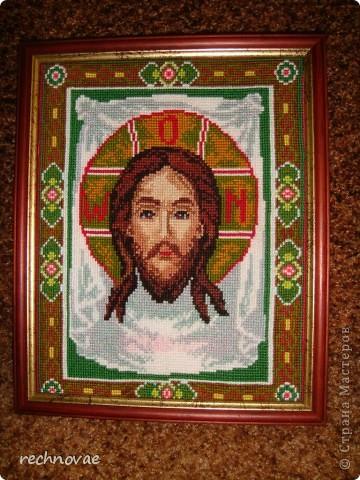 Спас нерукотворный (вышивка крестом)