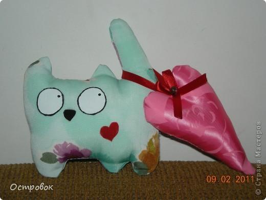 Вот сшился у меня такой котик в подарок одной из учительниц моего сына. Выкройку взяла здесь - http://stranamasterov.ru/node/146436, за что спасибо Анастасии Остапенко. фото 1