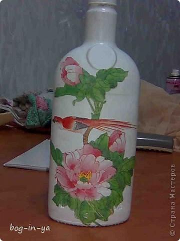 Вот такая бутылочка у меня получилась...