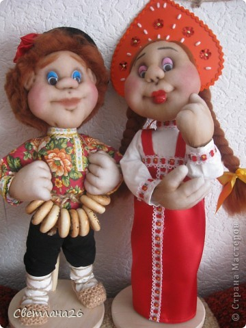 Вот и родились мои две новых куклы, которые я сделала в ходе проведения своего МК. фото 1