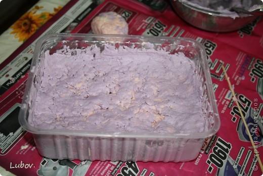 """Воздушное мыло ( вихревое) """" Чернично-персиковое суфле"""" -  мастер-класс. фото 13"""