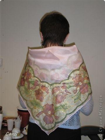 Цикламен. Снимок на рабочей раме. Этот батик живет в хорошем доме в Новосибирске. фото 4