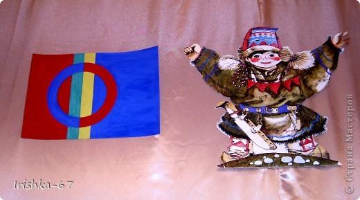Международный день саамов — ежегодный национальный праздник, отмечаемый 6 февраля саамами Норвегии, Швеции, Финляндии и России В различных странах празднование Международного дня саамов отмечается по-разному. Во время официальных действий над мэрий или ратушей поднимается саамский флаг и звучит (или поют) гимн «Sámi soga lávllaat». Для детей и подростков проводятся различные мероприятия, в школах и детских садах рассказывают о саамах, их истории, культуре.   фото 5