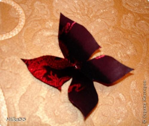 бабочка из ткани за 15 минут фото 1