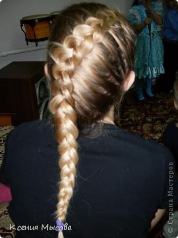 Такая коса смотрится лучше всего на светлых волосах,а на темных теряется.... фото 1
