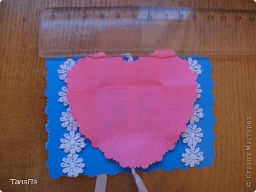 Вот такие валентинки мы делали с пятиклассницами.  Бантик развязывается, а там сложенное сердечко. Идею подсмотрела здесь на сайте:http://stranamasterov.ru/user/16084 фото 2