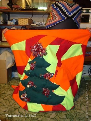 Мешок пошит специально для Деда Мороза.