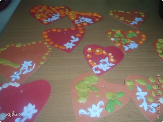 вот такие Валентинки мы сделали с детьми в подарок родителям:)) фото 2