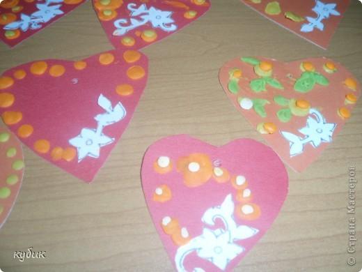 вот такие Валентинки мы сделали с детьми в подарок родителям:)) фото 1