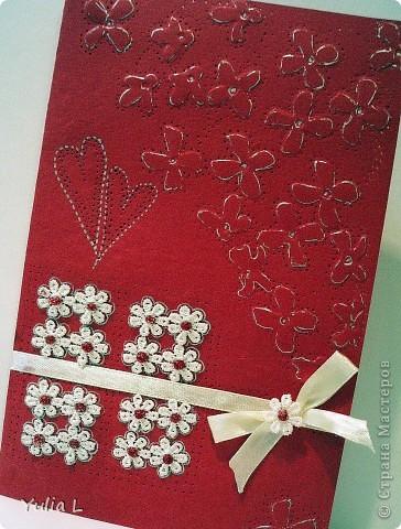 Еще одна открытка по скетчу от Лены http://stranamasterov.ru/node/134561. Материалы: бумага для пастели, тесьма, атласная лента, гель.   фото 1
