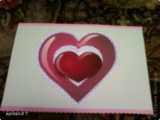 вдохновившись работами сделала вот такую валентинку для сестры фото 2